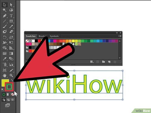 Как изменить цвет шрифта в Adobe Illustrator