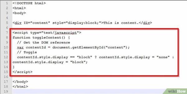 Come Gestire la Visualizzazione di un Elemento HTML ...
