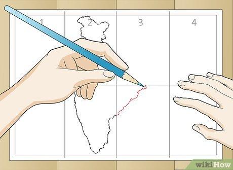 Cara menggambar / membuat peta negara indonesia yang bagus dan mudah ditiru ep 20 Cara Menggambar Peta India Dengan Gambar Wikihow