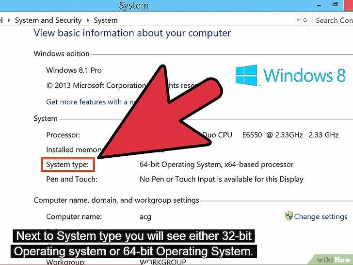 معرفة إذا كان نظام ويندوز من نوع 32 بت أو 64 بت