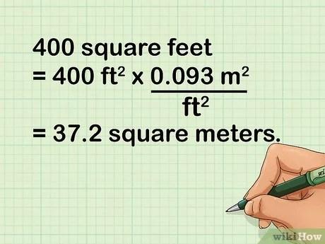 comment convertir des metres carres en