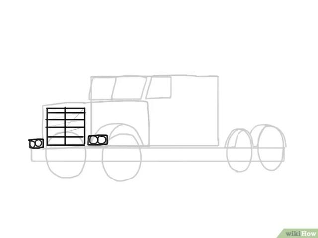 Cara Menggambar Mobil Truk Mak