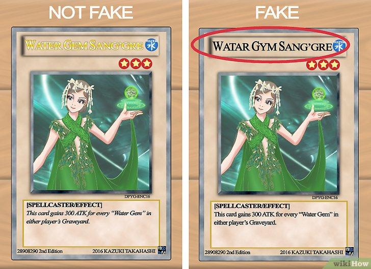 Falsche Yu Gi Oh Karten Erkennen WikiHow