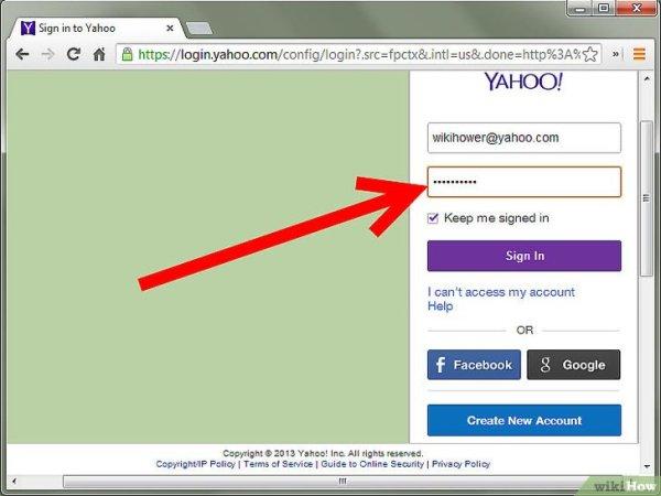 Как войти в свою электронную почту (Yahoo)