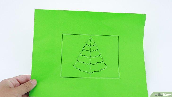 Cmo Hacer Una Tarjeta Desplegable De Un Rbol De Navidad