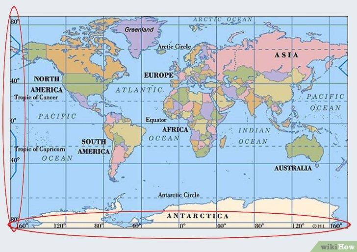 World Map Longitude Latitude Lines And Europe