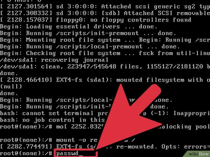 صورة عنوانها Change the Root Password in Linux Step 14