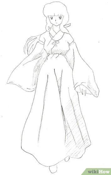 Como Lado Vestido Caricatura Lado Dibujar Con De Una De De Persona Una