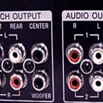 Fungsi Output Socket RCA Amplifier Surround Dan DVD Player - Ilustrasi bagian belakang amplifier yang menunjukkan output dan input sebuah amplifier