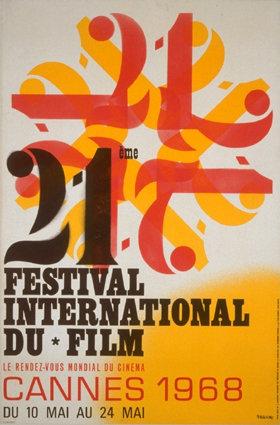 affiche festival de cannes 1968 Toutes les affiches du festival de Cannes de 1946 à 2013