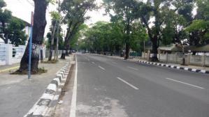 2018 jalanan medan tampak sepi