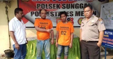 Dua Warga Pinang Baris ditangkap