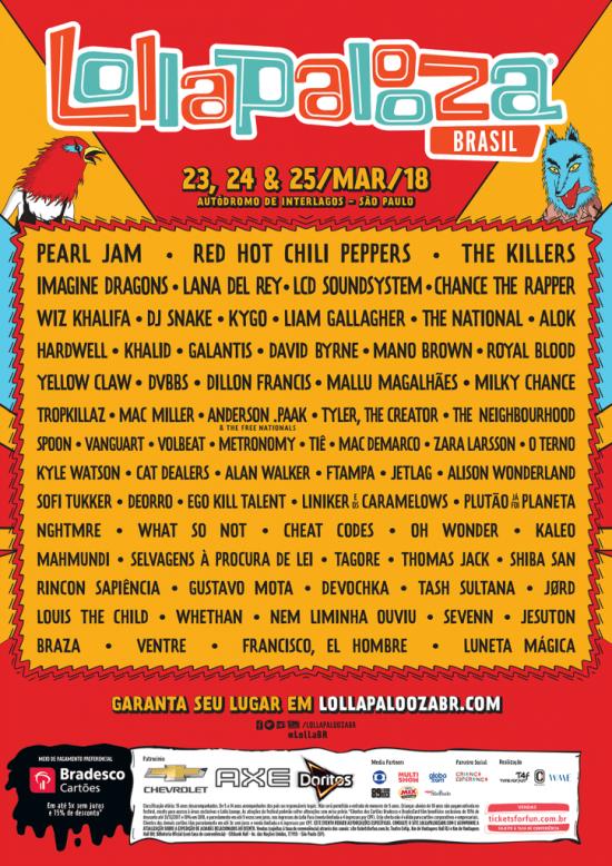 Lollapalooza Brasil divulga lineup completo