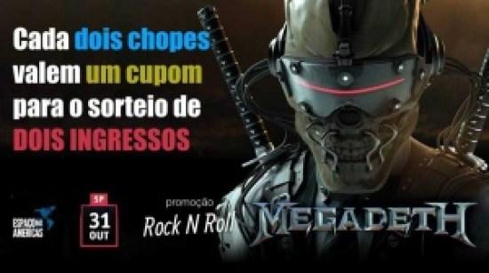 Megadeth: Pub irá sortear um par de ingressos para o show em São Paulo