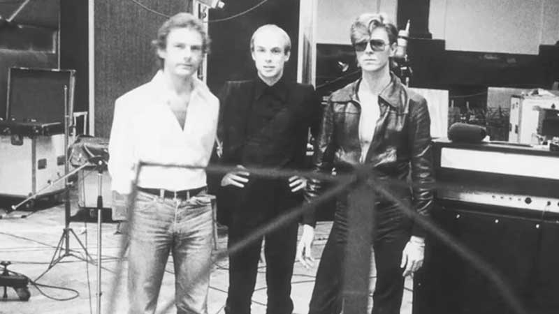 David Bowie e Brian Eno no hansa Studios
