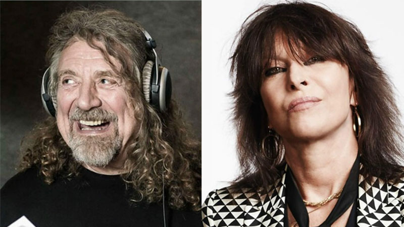 Robert Plant e Chrissie Hynde