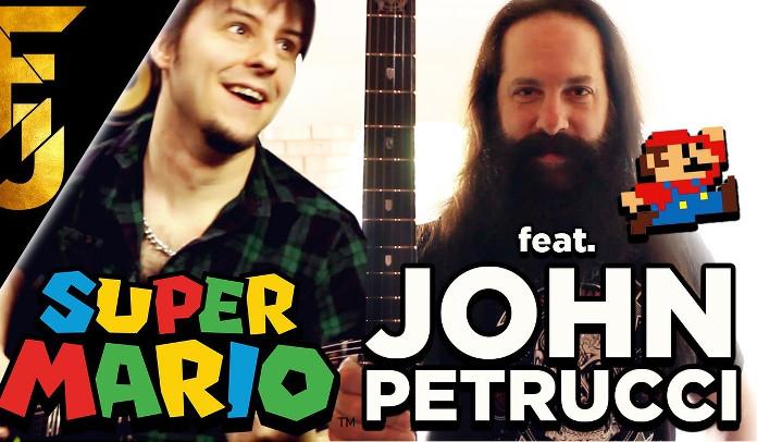 John Petrucci toca o tema de Super Mario Bros da Nintendo