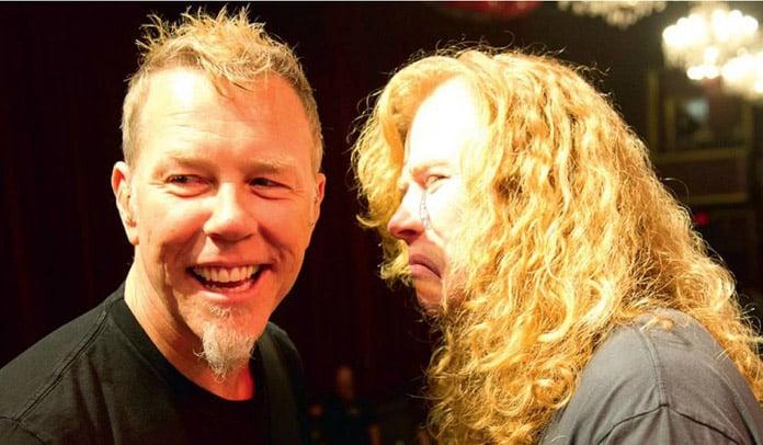 James Hetfield imita Dave Mustaine em programa de televisão