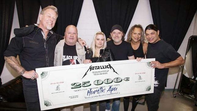 Metallica doa mais de 100 mil reais à instituição de caridade