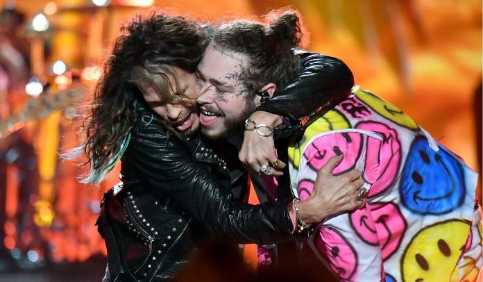 Aerosmith toca com Post Malone no encerramento do VMA da MTV