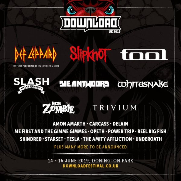 Download Festival 2019 lineup