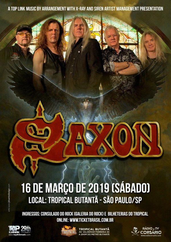 Saxon confirma show em São Paulo para 2019