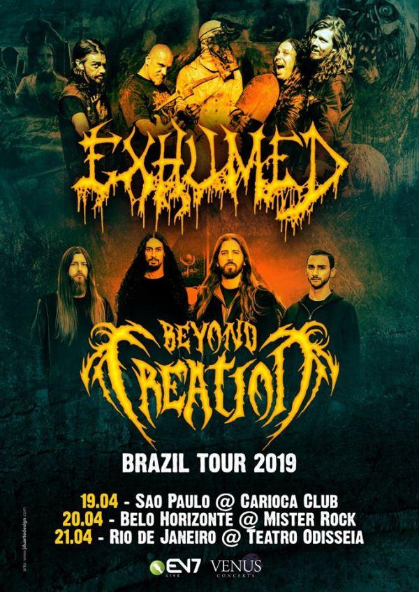 Exhumed e Beyond Creation anunciam turnê conjunta no Brasil
