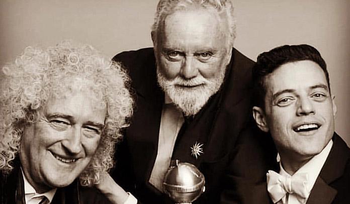 Brian May, Roger Taylor e Rami Malek