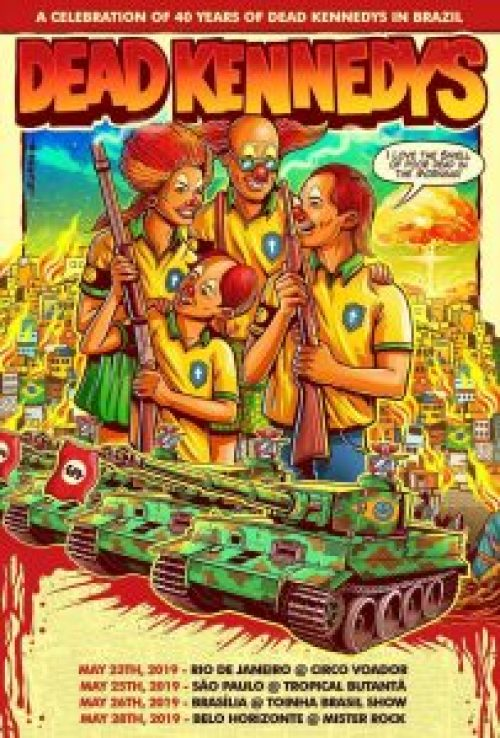 Dead Kennedys pôste turnê brasileira