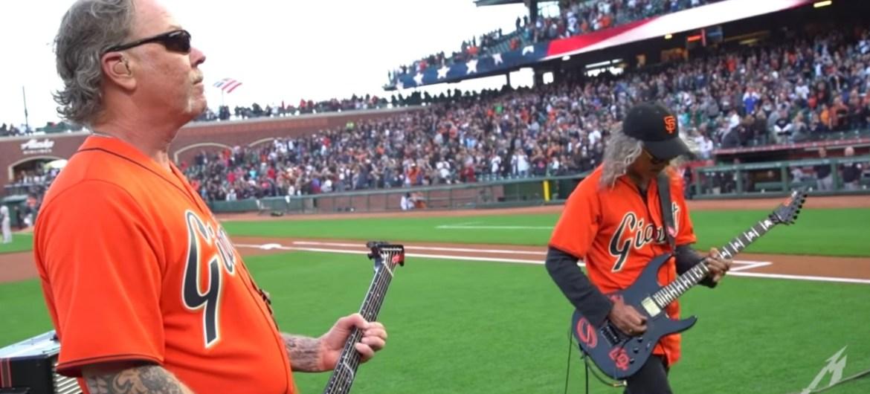 Metallica toca hino no jogo de baseball do San Francisco Giants