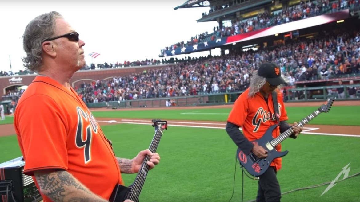 Metallica toca hino no jogo de baseball do San Francisco Giants