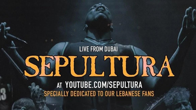 Sepultura transmitirá show de Dubai