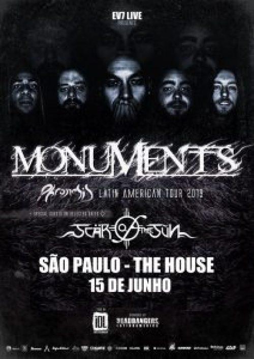Monuments e Scars of The Sun se apresentam no Brasil