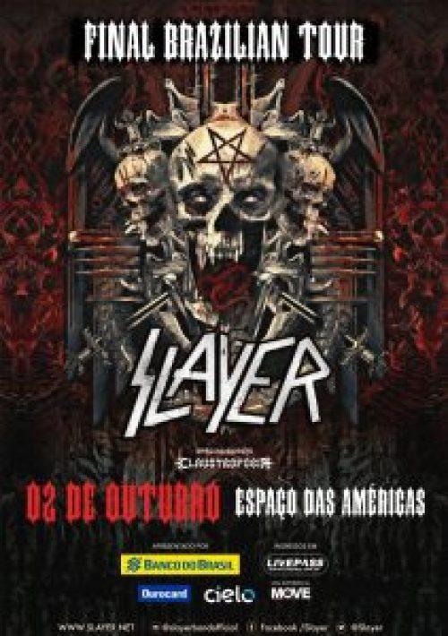 Claustrofobia abrirá para o Slayer em show em São Paulo