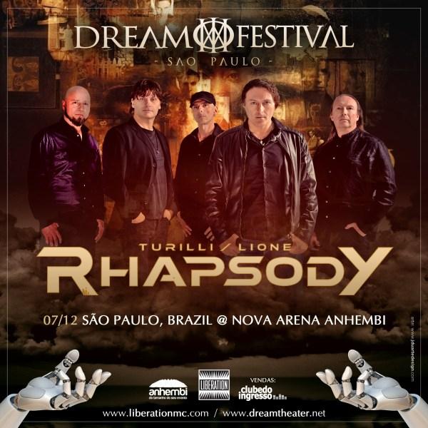 Dream Theater anuncia festival com Luca Turilli e Fabio Lione em São Paulo