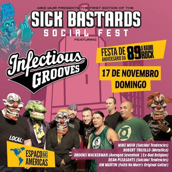São Paulo terá primeiro Sick Bastard Social Fest com integrantes do Metallica, Avenged Sevenfold e mais