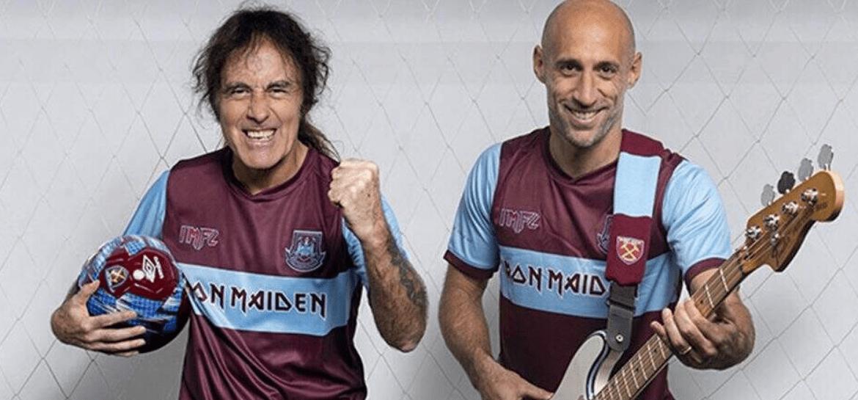 Iron Maiden lança uniforme de futebol em parceria com clube inglês West Ham
