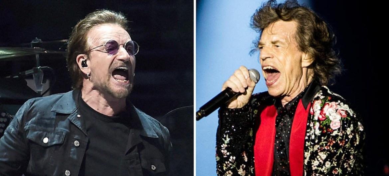 U2 e Rolling Stones foram os artistas que mais arrecadaram com turnês na última década