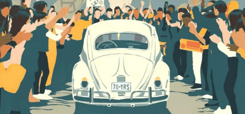 Comercial da Volkswagen com Beatles de trilha sonora