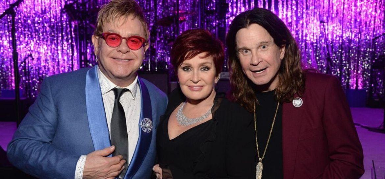 Elton John, Sharon e Ozzy Osbourne