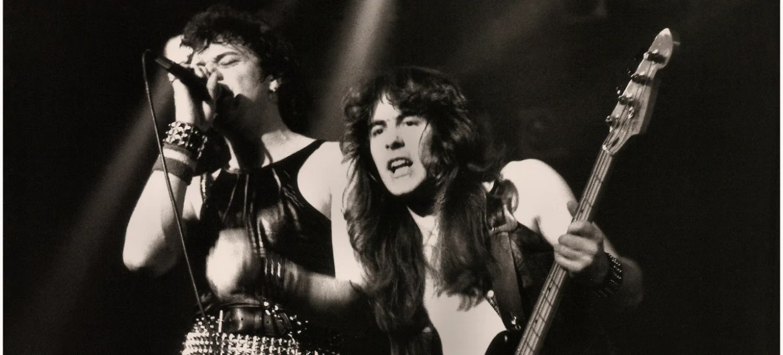 Paul Di'Anno e Steve Harris do Iron Maiden