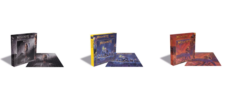 Megadeth irá ganhar série de quebra-cabeças com capas de álbuns icônicos