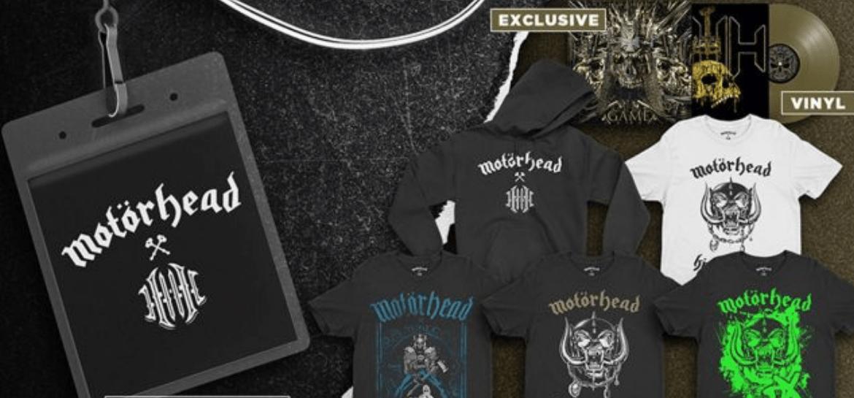 Produtos da colaboração Motorhead + Triple H