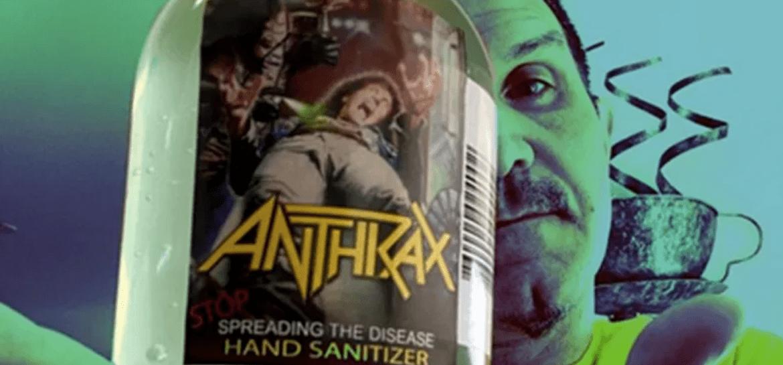 """""""Stop Spreading the Disease"""", o desinfetante do Anthrax"""