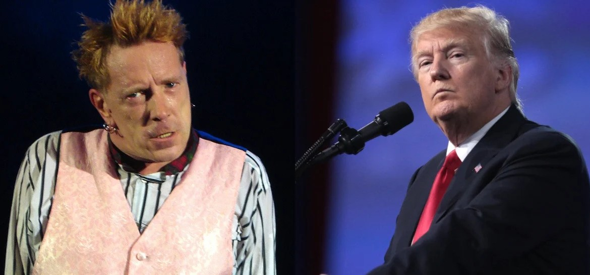 Johnny Rotten e Donald Trump