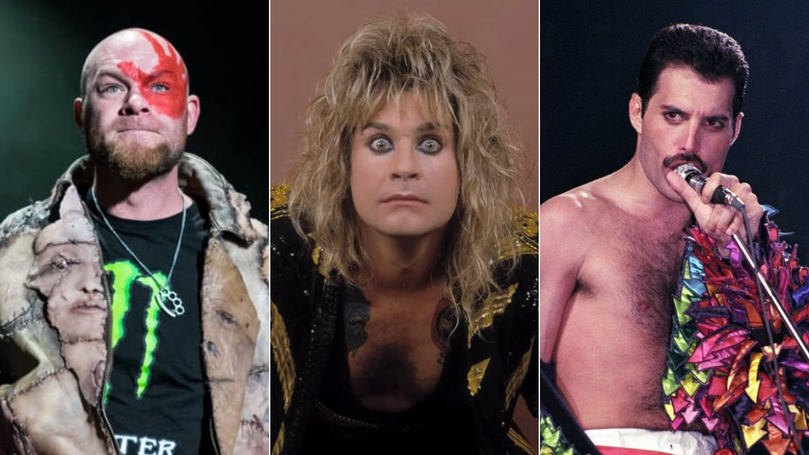 Ivan Moody, do Five Finger Death Punch, Ozzy Osbourne e Freddie Mercury
