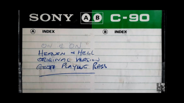 """Fita de 1979 de """"Heaven And Hell"""""""