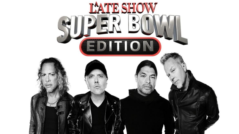 Metallica estará no 'A Late Show: Super Bowl Edition'