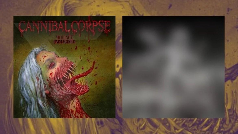 Versões da capa de 'Violence Unimagined', do Cannibal Corpse