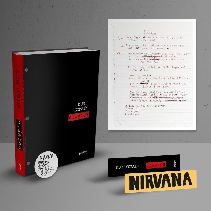 'Diários', livro com anotações de Kurt Cobain